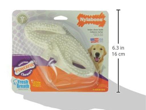犬用歯磨きおもちゃナイラボーン デンタルダイナソーのサイズ